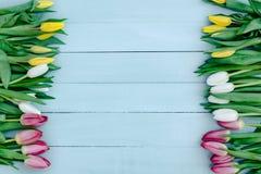 De lentebloemen op de Raad Royalty-vrije Stock Foto