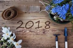 De lentebloemen, Tekst 2018 Stock Foto