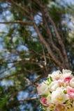De lenteboeket met dubbele tulpen Royalty-vrije Stock Afbeelding