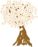 De lenteboom in de bloesem Vector Illustratie