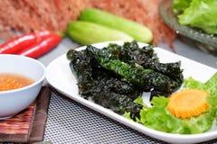 De lentebroodje met varkensvlees en alge Royalty-vrije Stock Afbeelding