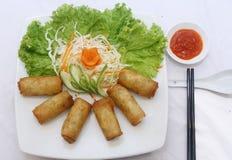 De lentebroodjes (Cha-gio), Vietnamese keuken Stock Foto