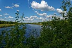 De lentedag bij de rivier Royalty-vrije Stock Foto's