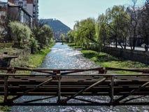 De lentedag in Resita, Roemenië stock afbeelding