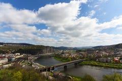 De lentedag in Usti-nad Labem Royalty-vrije Stock Afbeelding