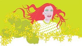 De lentegezicht van het meisje Royalty-vrije Stock Afbeeldingen