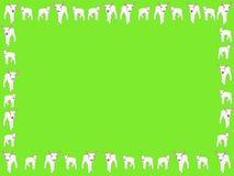 De lentegrens van lammeren stock illustratie