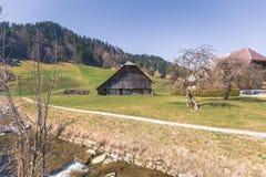 De lenteindrukken van marbach, emmentaler entlebuch Zwitserland royalty-vrije stock afbeeldingen