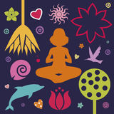 De lenteinzameling van de yoga Stock Foto