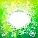 De lentekaart met Bloem. De vectorillustratie, kan worden gebruikt als cre Royalty-vrije Stock Fotografie