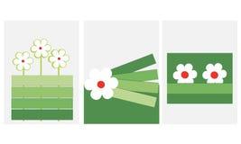 De lentekaart met bloemen materieel ontwerp Stock Foto's