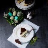 De lentekaastaart met pistaches Royalty-vrije Stock Foto's