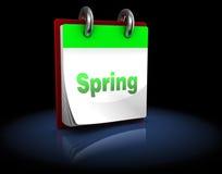De lentekalender Royalty-vrije Stock Afbeelding
