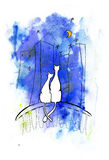 De lentekatten Stock Fotografie