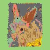 De lentekonijntje stock afbeeldingen