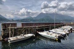 De lentelandschap op Meer Como, Stock Afbeelding