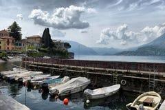 De lentelandschap op Meer Como, Stock Afbeeldingen