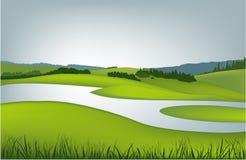De lentelandschap van de berg Stock Fotografie