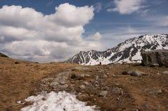 De lentelandschap van de panoramaberg Royalty-vrije Stock Afbeeldingen