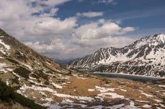 De lentelandschap van de panoramaberg Royalty-vrije Stock Afbeelding