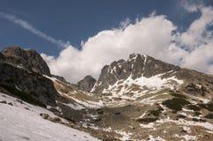 De lentelandschap van de panoramaberg Stock Foto's