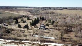 De lentelandschap van het museum-landgoed van I e Repin stock video