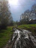 De lentelandweg Royalty-vrije Stock Afbeeldingen