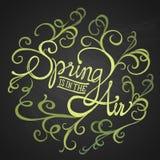 De lentelucht - Floristische cirkel Royalty-vrije Stock Foto's