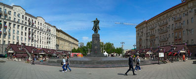 De lentemarkt op Tverskaya-Vierkant moskou Rusland Royalty-vrije Stock Fotografie