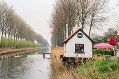 De lentemening van de aard van de stad van Damme in Belgi? stock foto