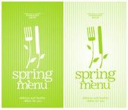 De lentemenu van het restaurant. Royalty-vrije Stock Fotografie