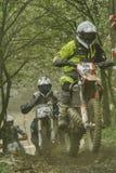 De lentemotocross die in Opole rent royalty-vrije stock foto's