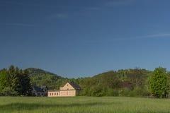 De lenteochtend in Varnsdorf-gebied Stock Afbeelding