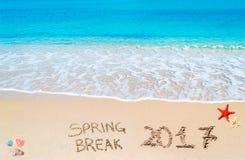 De lenteonderbreking 2017 op het zand Royalty-vrije Stock Fotografie