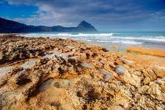 De lentepanorama van overzeese kuststad Trapany Sicilië, Italië, Europa Royalty-vrije Stock Foto