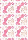 De lentepatroon, met bloeiende roze bloemen Royalty-vrije Stock Foto