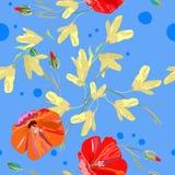 De lentepatroon voor textiel royalty-vrije illustratie