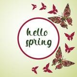 De lenteprentbriefkaar, dekking, heldere achtergrond voor inschrijvingen Royalty-vrije Stock Fotografie
