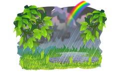 De lenteregen Stock Fotografie