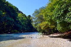 De lentes van Acheron-rivier Royalty-vrije Stock Foto's