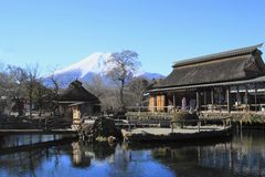 De lentes van Mt.Fuji Stock Foto