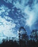 De lentestad skyes Royalty-vrije Stock Afbeelding