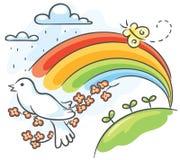 De lentetekening stock illustratie