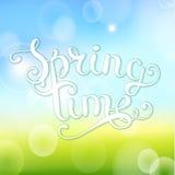 De lentetijd op bokehachtergrond Royalty-vrije Stock Fotografie