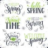 De lentetijd verwoording Stock Foto's