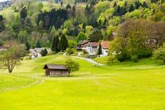 De lentevallei in Zwitserland Stock Fotografie