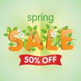 De lenteverkoop 50% weg Stock Fotografie
