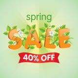 De lenteverkoop 40% weg Stock Foto's