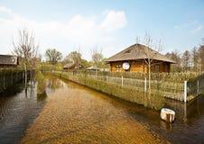 De lentevloed, Wit-Rusland Stock Afbeeldingen