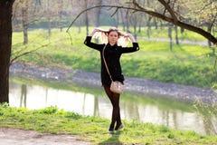 De lentevrijheid in uw haar Stock Foto's